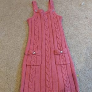 Girls Sweater Dress - Pink with Pockets/Size 7